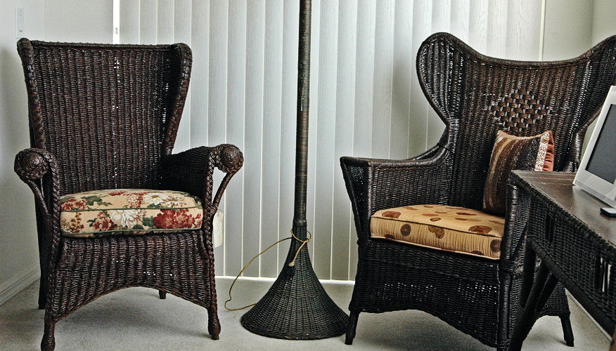 American Antique Wicker Faux Finish Dark
